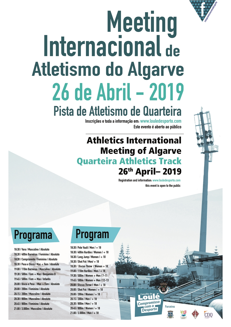 Meeting Internacional de Atletismo do Algarve - Atletas Filiados na AAALG